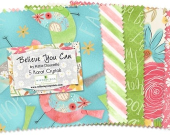 """NEW! Believe You Can - (42) 5"""" Squares  - Wilmington  - by Katie Doucette"""