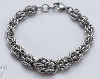Damesarmband staal zilver