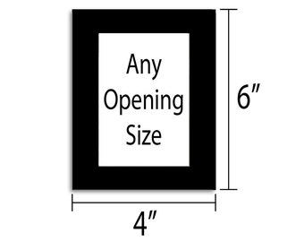 4x6 Photo Mat - Multiple Colors - Any Opening Size