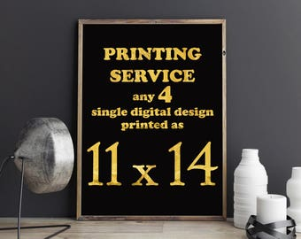 Poster printing service Easy Print Service Professional Printing Service Mailed To Your Door Room Decor Home Decor Nursery Posters set of 4