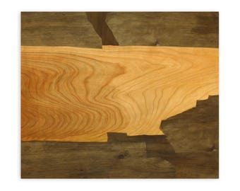 """Wood Art """"Cherry"""",Contemporary Marquetry"""