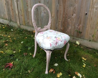 SOLD NOW ************Vintage / Shabby Chic / Romantic / Victorian Ocassional chair