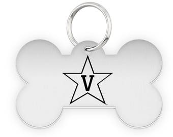 Vanderbilt University Commodores Dog Tags | Pet Tags | Cat Tags | Necklace | College Pet Tags