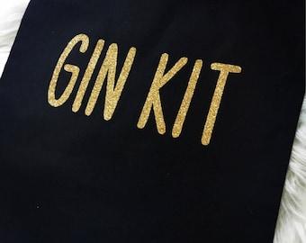 Gym bag, gin bag, gin, tote bag, cotton bag, black handbag, shopping tote, shopping bag, gym kit, hen do, christmas present, cotton tote bag