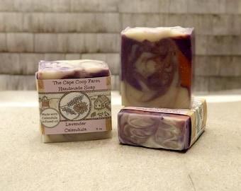 Lavender & Calendula handmade soap, natural soap