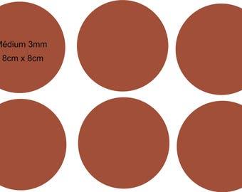 "mini 6 ""round glass"" medium plates"