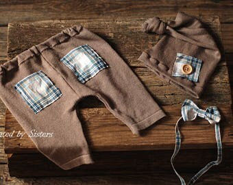 Baby Boy Props,6-12 Month Romper,Baby Photo Props, Baby Props, Sitter Pants,Baby Boys, newborn photography props,