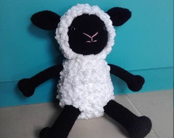 Soft Fluffy Black & White Sheep | Soft Fluffy Rainbow Sheep