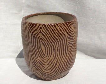 Wood grain cup