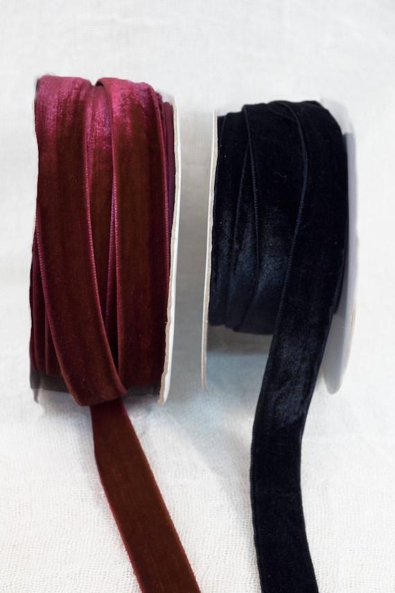 15mm Velvet Ribbon,chocker ribbon, christmas ribbon,bordeaux velvet ...