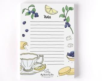 Notepad Earl Grey tea