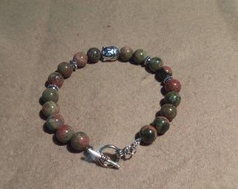 Stones Inakite and Buddha charm bracelet