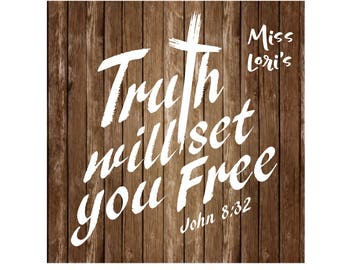The  truth will set you free  SVG DFX Cut file  Cricut explore filescrapbook vinyl decal wood sign cricut cameo Commercial use