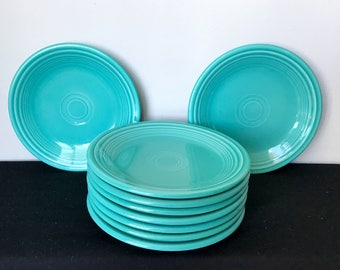 Post-1986 (Contemporary) Turquoise Fiestaware Salad Plate - 9 Available!!