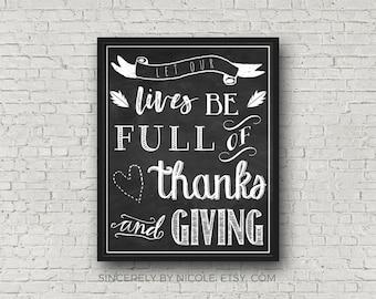 Thanksgiving Print, Thanksgiving Decor, Fall Printables, Thanksgiving Art Print, Fall Decor, Thanksgiving Decorations, Thankful Sign, Fall