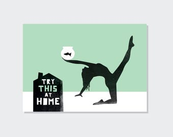 Try this at home // Just because // postcard (A6)