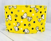 Male Dog Belly band - dog diaper - Washable and Reusable - XSmall to XLarge Sizes - Made from Peanuts Snoopy Fabric