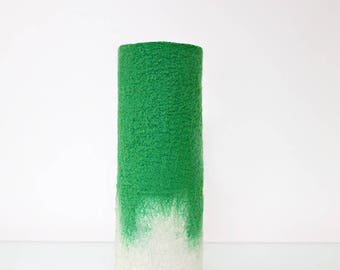 Green and Cream Eco Friendly Felt Vase  in 100%  Merino Wool