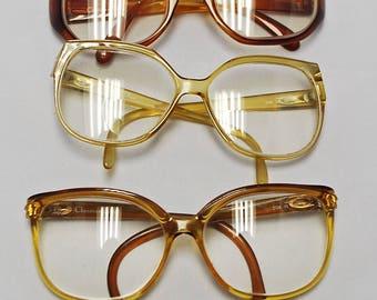 SET of 5 Pairs Vintage 1960's / 70's CHRISTIAN DIOR Eyeglasses (bulk lot 116)