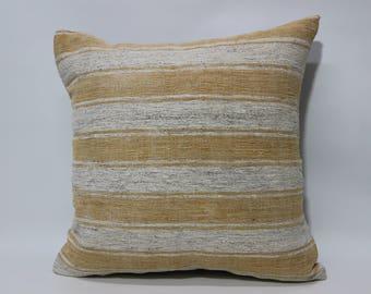 Striped Kilim Pillow 20X20 Handmade Anatolian Turkish Kilim Pillow Decorative Kilim Pillow Sofa Pillow Bedroom Kilim Pillow SP5050-2192