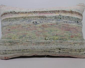 16x24 Striped Cotton Kilim Pillow Home Decor Cushion Cover Bohemian Kilim Pillow Sofa Pillow Decorative Kilim Pillow  SP4060-893