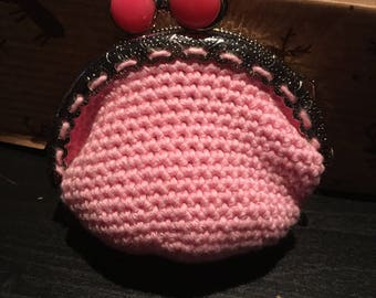 Small crochet coin purse
