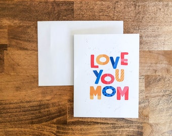 Mother's Day Card For Kids   Greeting Card   Mother's Day Greeting Cards   Simple Greeting Cards   Cute Mother's Day   A2 Card
