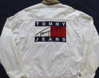 Vintage 90's Tommy Hilfiger Jacket Big Logo
