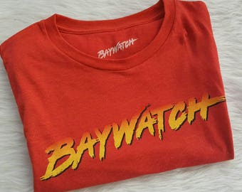 Baywatch Romper or Dress or Tee Shirt/ Upcycled tee shirt romper