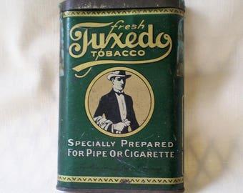 Antique Tobacco Tin Tuxedo Brand-1900's