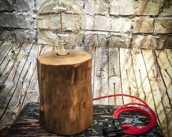 Simple stylish log desk lamp