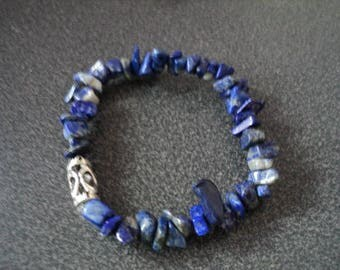 Lapis Bracelet with Metal Bead (1527)