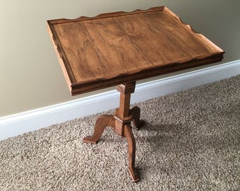 Hand crafted accent or side table. Can be used as a decorative accent table or plant stand