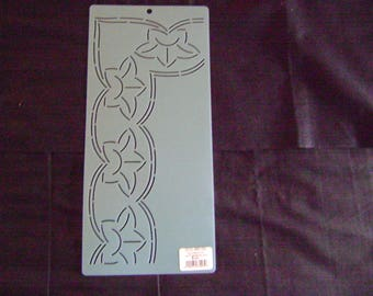 Sashiko Japanese Embroidery Stencil 3 in. Lotus Border Motif Block/Quilting