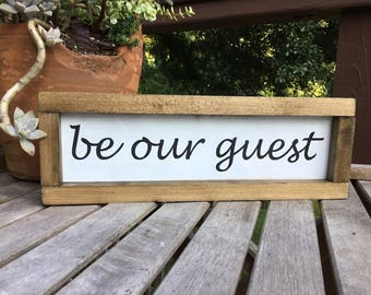 Be our guest,shiplap sign,gallery wall sign,subway art,farmhouse wood sign,wood sign,guest room sign,farmhouse decor