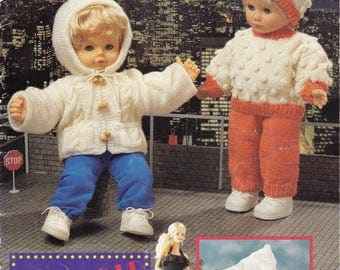 Doll's Clothes Knitting Pattern Booklet - Panda K587