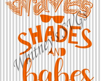 Waves Shades and Babes SVG DXF Cutting File