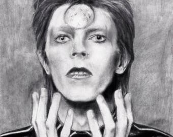 David Bowie Portrait - art Print