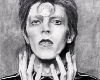 David Bowie Portrait - art Print
