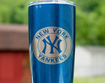 New York Yankees Coffee Powder Coated Tumbler Mug