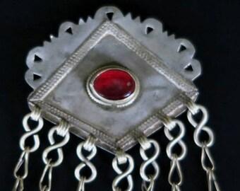 OLD TURKMEN PENDANTS - Vintage Turkoman Tribal Jewelry Pendant from Turkmenistan