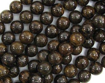 """6mm bronzite round beads 15.5"""" strand 19795"""