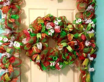PRE-LABOR DAY Sale Christmas Garland, Door Garland, Fireplace Garland, Christmas wreath, wreaths, wreath, christmas wreaths,Garland, double