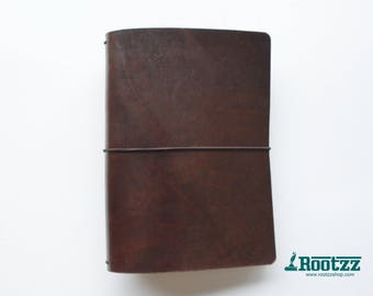A5 travelers notebook brown -midori - fauxdori
