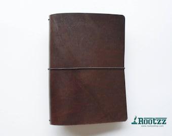 A5 travelers notebook brown -midori - fauxdori