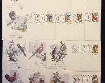 50 State Birds and Flowers Unaddressed First Day Covers (by Gill Craft) (JSP)