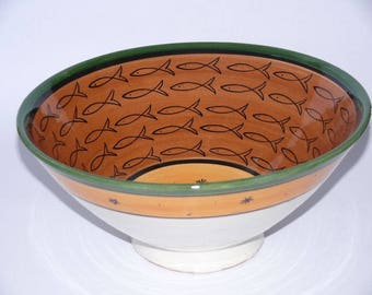 Moroccan Oriental ceramic dish bowl Fruit salad Cereal Ø 30 CM model ALA