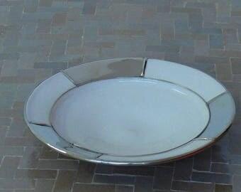 Moroccan ceramic plate Metal deco Orient handicraft Morocco Ø 25 CM