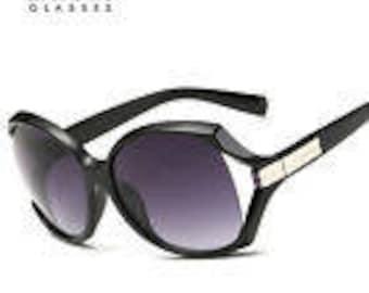 New Black and Silver Retro Sun Glasses