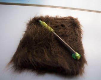 Brown Faux Fur Mini Sketchbook